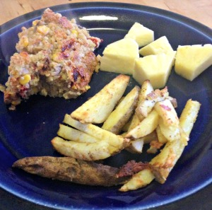 Quinoa Loaf and Fries